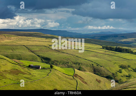 Hooksbank and Wharfedale, Kettlewell, Yorkshire Dales National Park, England, UK - Stock Photo