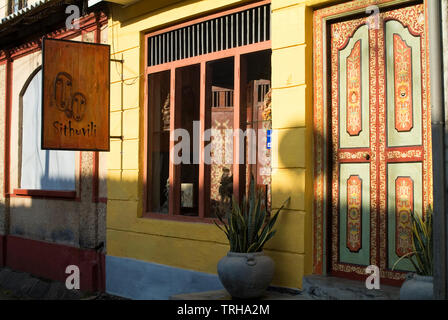 A shop front in the World Heritage listed fort of Galle, Sri Lanka. - Stock Photo