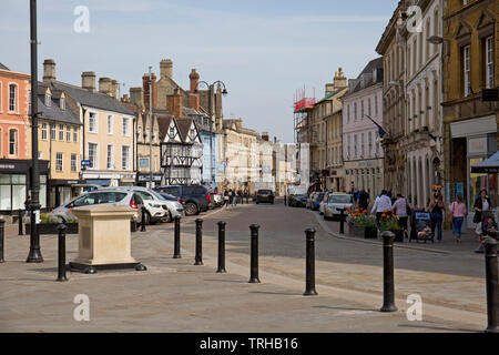 Cirencester town centre, Gloucestershire, England - Stock Photo