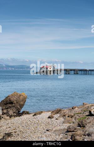 RNLI Mumbles Lifeboat Station, Wales, UK - Stock Photo