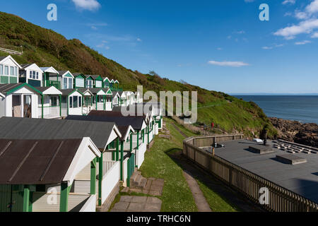 Rotherslade Bay beach, East Langland Bay, Wales, UK - Stock Photo