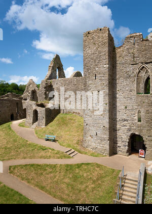 Oystermouth Castle, Wales, UK - Stock Photo