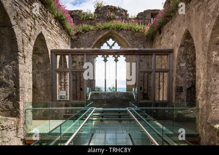 Alina's Chapel, Oystermouth Castle, Wales, UK - Stock Photo