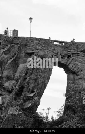 View of the castle of San Marino Citta. - Stock Photo
