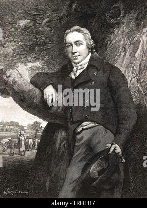 EDWARD JENNER (1749-1823) English physician and smallpox vaccine pioneer - Stock Photo