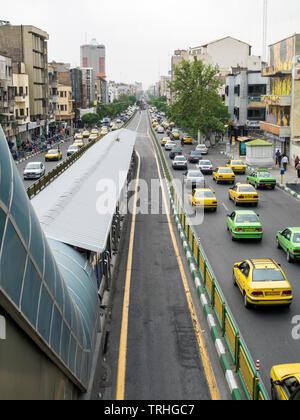 Traffic in Tehran, Iran. - Stock Photo