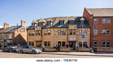 Peterborough, Cambridgeshire, UK, June 6th, 2019. The Labour Party  campaign centre  for the June 2019 Parliamentary by-election in central Peterborough. Credit: Michael David Murphy / Alamy Live News - Stock Photo