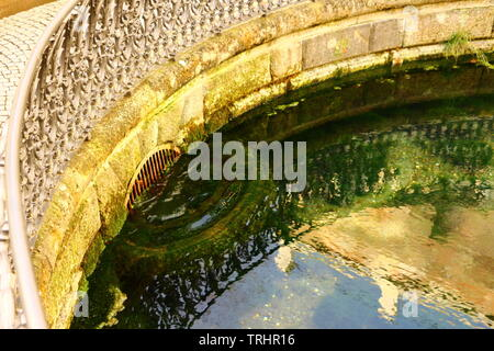 Die Donauquelle in Donaueschingen im Schwarzwald - Stock Photo