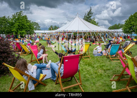 Hay Festival, Hay on Wye, Wales - Stock Photo