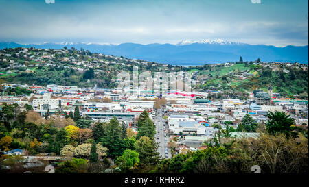 View of Mount Arthur and Nelson from the Centre of New Zealand. - Stock Photo