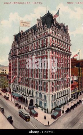 Knickerbocker Hotel, New York, United States, ca. 1910 - Stock Photo