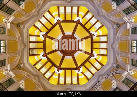 Tokyo, Japan - April 24 2018: Detail of the one of the twin domes inside Tokyo Station - Stock Photo