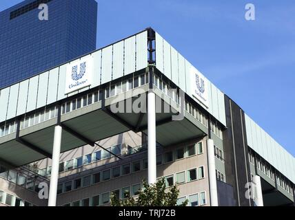 Unilever office building in Rotterdam. - Stock Photo