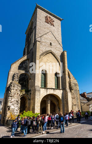 Charlemagne Tower of Tours city , Indre et Loire, Centre Val Loire, France - Stock Photo