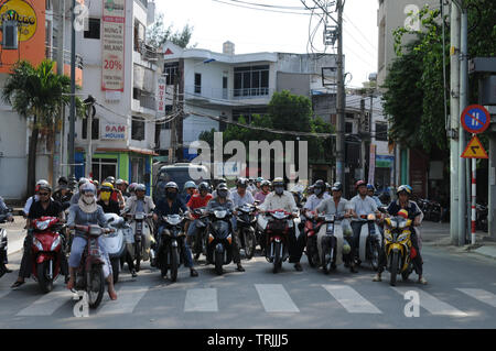 Vietnam: Tons of CO2-emmissions every day are polluting the air in Ho Chi Mingh City - Stock Photo