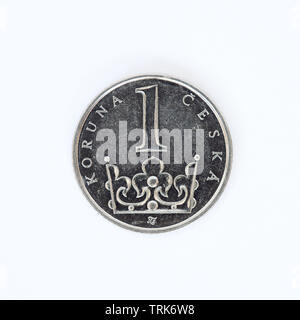 Czech Republic 1 Koruna Coin - 2003 - Stock Photo
