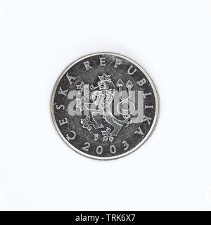 Czech Republic 1 Koruna Coin - 2003 - Stock Photo