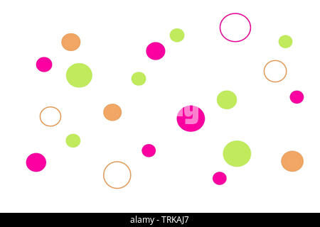 Abstract modern background with colorful dots and circles, beautiful vivid backdrop for cover, brochure or website design - Stock Photo