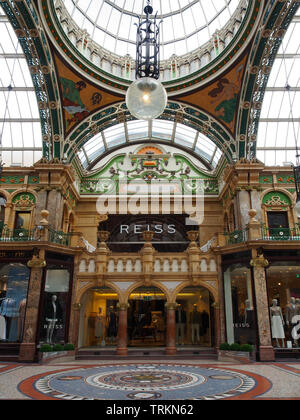 County Arcade in Victoria Quarter in the centre of Leeds, Yorkshire. - Stock Photo