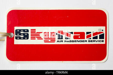 Laker Airways Skytrain Luggage Tag Label - Stock Photo