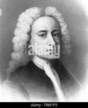 ALEXANDER POPE  (1688- 1744) English poet - Stock Photo