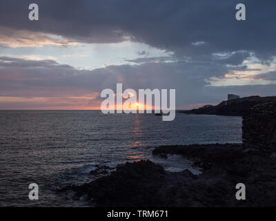 Beautiful sky and sea in mediterranean landscape in Pantelleria island - Stock Photo