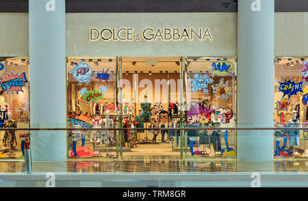 Singapore-02 APR 2019:Dolce & Gabbana shop's exterior in shopping mall - Stock Photo