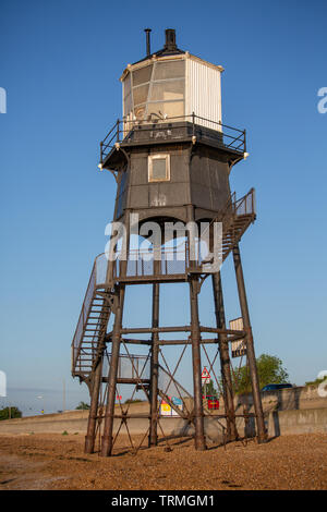 Dovercourt Lighthouse in Harwich, Essex - Stock Photo