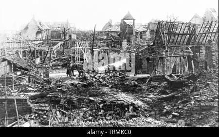 Village called Misery, France, WW1 - Stock Photo