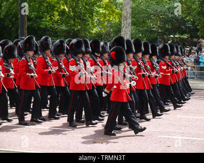 London, UK, 8th June 2019. General view during the Trooping the Colour Queen's birthday parade in central London - Stock Photo