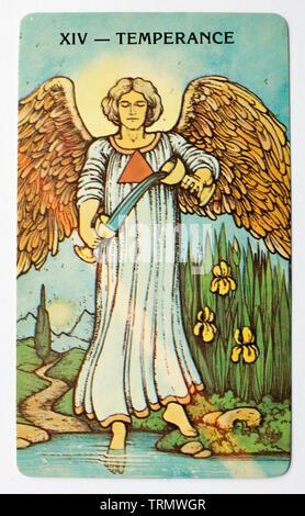 Tarot Card Temperance Stock Photo: 5072452 - Alamy