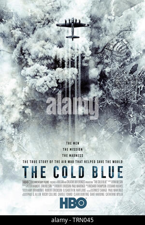 The Cold Blue (2018) directed by Erik Nelson. Documentary about the 8th Air Force dangerous B-17 bombing missions during World War 2 made using footage and outtakes shot by William Wylker in 1943. - Stock Photo
