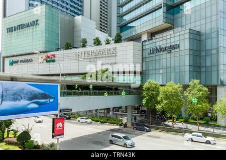 Kuala Lumpur,Malaysia - June 7,2019 : Scenic view of the Intermark Mall Kuala Lumpur,people can seen exploring around it.