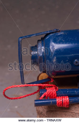 Europe, Spain, 2018: View Of 20 Ton Hydraulic Jack - Stock Photo