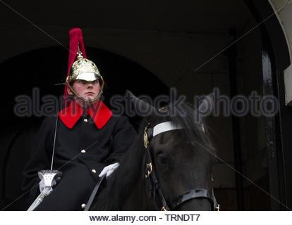 Europe, UK, London, 2018: View Of Horseguard On Duty, Whitehall - Stock Photo