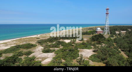 View from the lighthouse, Darßer Ort, Germany - Stock Photo