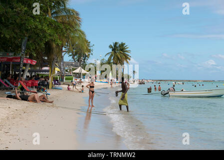 Saint Anne Beach in Guadeloupe - Stock Photo