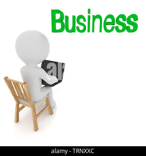 Business Man .3D rendering - Stock Photo