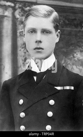 KING EDWARD VIII (1894-1972) as prince of Wales about 1912 - Stock Photo