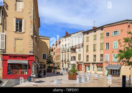 France, Saone et Loire, Macon, downtown, Place Saint-Pierre // France, Saône-et-Loire (71), Mâcon, centre-ville, Place Saint-Pierre - Stock Photo