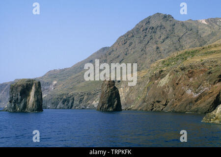 filicudi island, eolie islands (aeolian Islands), messina province, sicilia (sicily), italy - Stock Photo