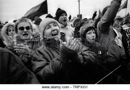 Czechoslovakia, Prague,1989 during the Velvet Revolution, the fall of communism in Eastern Europe. COPYRIGHT PHOTOGRAPH BY BRIAN HARRIS  © 07808-579804 - Stock Photo
