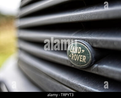 Land Rover Badge - Stock Photo