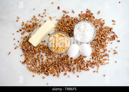 Southern Pecan Pie Muffin Ingredients - Stock Photo
