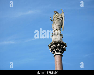 Angel, Waterford Fountain, Ford village. - Stock Photo