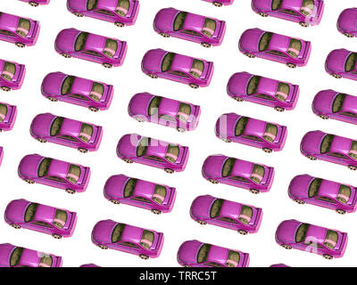 Old pink car toy pattern. Toned image. - image - Stock Photo