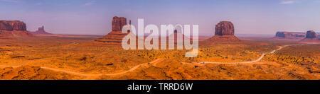 Panorama of Monument Valley (Arizona/Utah)   Picture Copyright Chris Watt Tel -  07887 554 193 info@chriswatt.com www.chriswatt.com - Stock Photo
