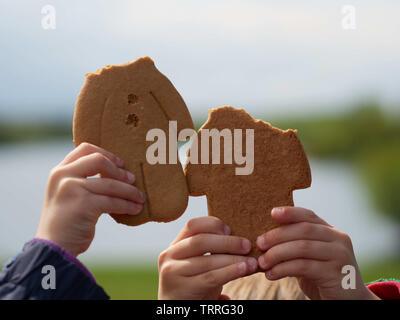 Headless gingerbread men - Manvers Lake, Wath-upon-Dearne, Rotherham, South Yorkshire, UK