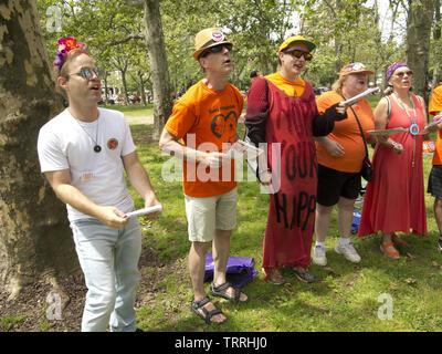 NYC Solidarity Walk With Gun Violence Survivors at Cadman Plaza in Brooklyn, NY, June 8, 2019. - Stock Photo