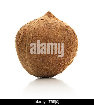 Isolated coconut on a white background. - Stock Photo